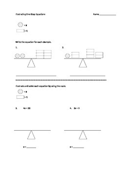 Equation Scales: Illustrating an Equation