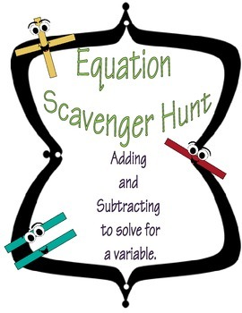 Equation Scevenger hunt (1 step)