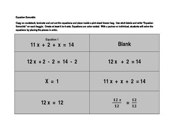 Equation Scramble