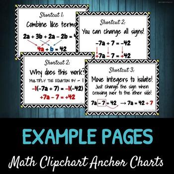 Equation Shortcuts: DIY Math Anchor Chart CLIPCHART