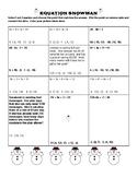 Equation Snowman