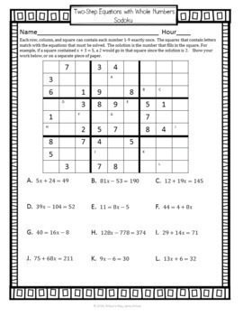 Equation Sodoku Bundle