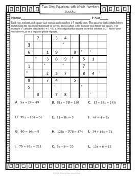 Equation Sudoku Bundle