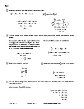 Equation Solving (CED.A.1 and CED.A.4)