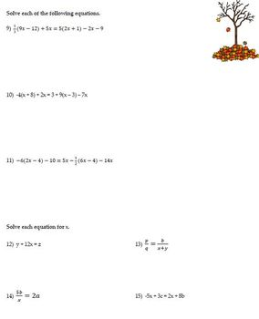 Equation Solving Review