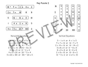 Equation Station Boggle for Math Bundle