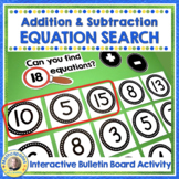 Equation Station Boggle for Math Set 1 Addition/Subtraction