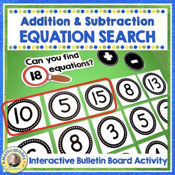 Equation Station Boggle for Math Set 1 Addition/Subtraction