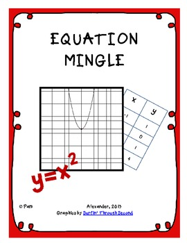 Equation, Table, Graph Mingle & Other Activities