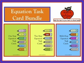 Equation Task Card Bundle