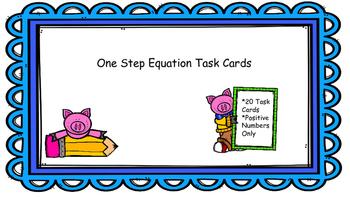 Equation Task Cards
