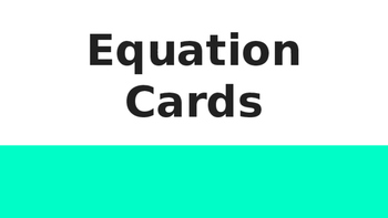 Equation Task Cards