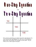 Equation Tic-Tac-Toe Games
