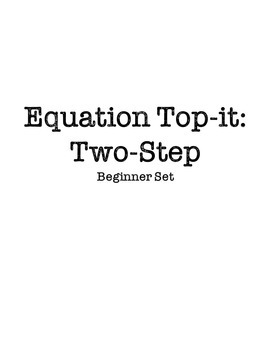 Equation Top-it: Two-Step