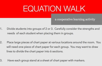 Equation Walk:  Solving Two-Step Algebraic Equations