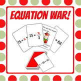Equation War - Learning to solve 1-step equations