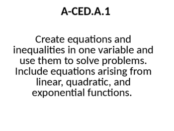 Equation Word Problems