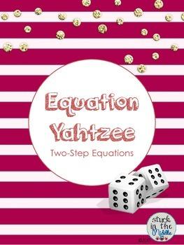 Equation Yahtzee:  Two-Step Equations