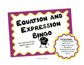 Equation and Expression Bingo