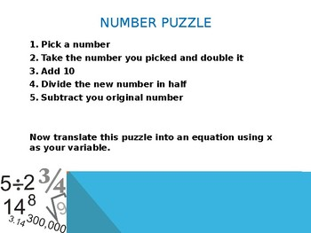 Equation and Inequalities Word Problems Powerpoint