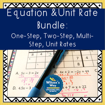 Equation and Proportionality Sudoku Bundle