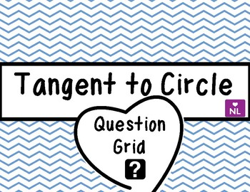Equation of Tangent to Circle (Question Grid/Noughts and Crosses)