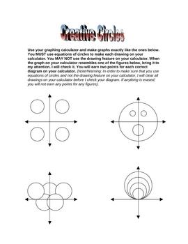 Equation of a Circle Fun & Creative Activity