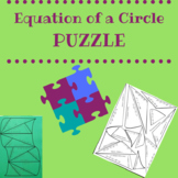 Equation of a Circle Puzzle