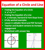 Finding the Equation of a Line and Circle - Geometry Lesson - Mathematics