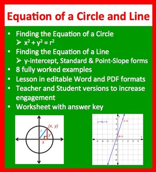 Finding the Equation of a Line and Circle - Geometry Lesso