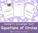 Equation of a Circle by Completing the Square Scavenger Hunt