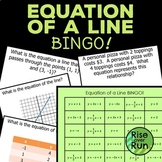 Linear Equations Bingo! Game