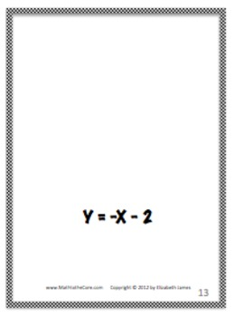 Equation of a Line from a Graph Flashcards