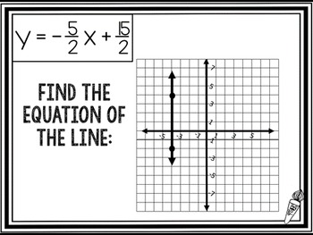 Equation of a Line (from a picture): Scavenger Hunt