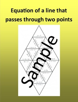 Equation of a line that passes through two points – Math puzzle