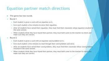 Equation partner match