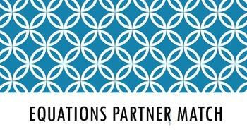 Equation partner match