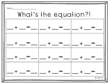 Equation recording sheets FREEBIE