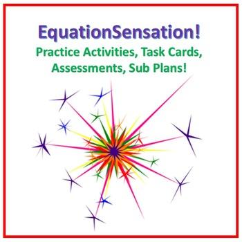 Equations Practice Activities Bundle 8.EE.7