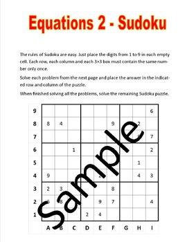 Equations 2 - Sudoku puzzle