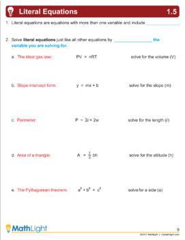 Equations | Algebra 1 Unit with Videos