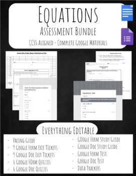 Equations Assessment Bundle