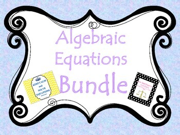 Equations Bundle- Bulletin Board and Task Cards