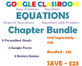 Equations Chapter Bundle - Google Classroom - Digital Math