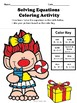 Equations Coloring Activity