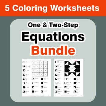Equations Coloring Worksheets Bundle