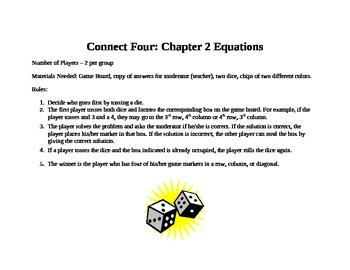 Equations Connect Four