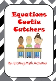 Linear Equations Cootie Catcher Bundle (Fortune Tellers)