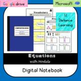 Equations Digital Notebook (VA SOL 6.13) Videos- Distance