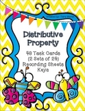 Equations - Distributive Property {Math Task Cards with Bu